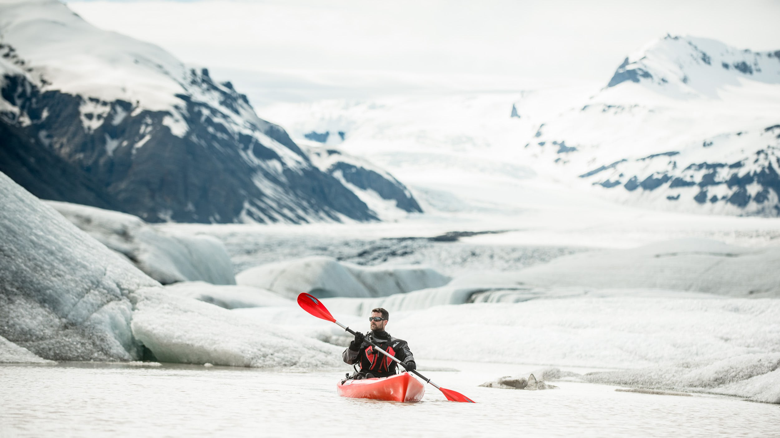 Kayaking is one the of most unique methods of exploring Iceland's beautiful glacial lagoons.