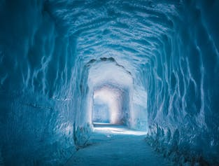 Into & Above the Glacier   Snowmobile & Ice Cave Tunnel Tour from Reykjavik