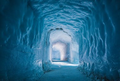 Into & Above the Glacier | Snowmobile & Ice Cave Tunnel Tour from Reykjavik