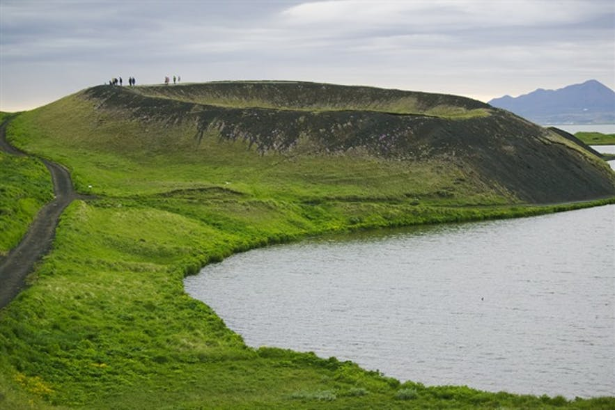 Les pseudo-cratères de Skútustaðagígar au bord du lac Myvatn