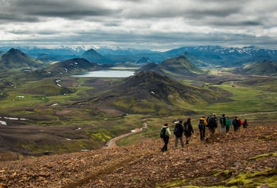 Landmannalaugar to Thorsmork | Four-day lightweight backpacking tour