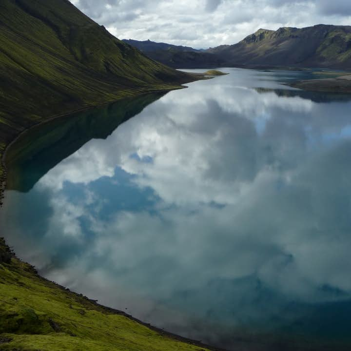 Lake Langisjór is a natural pearl hiding by the foot of Vatnajökull Glacier in Iceland.