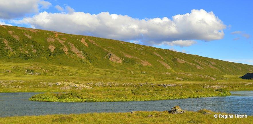 Víðir island in Laxá river in Laxárdalur N-Iceland