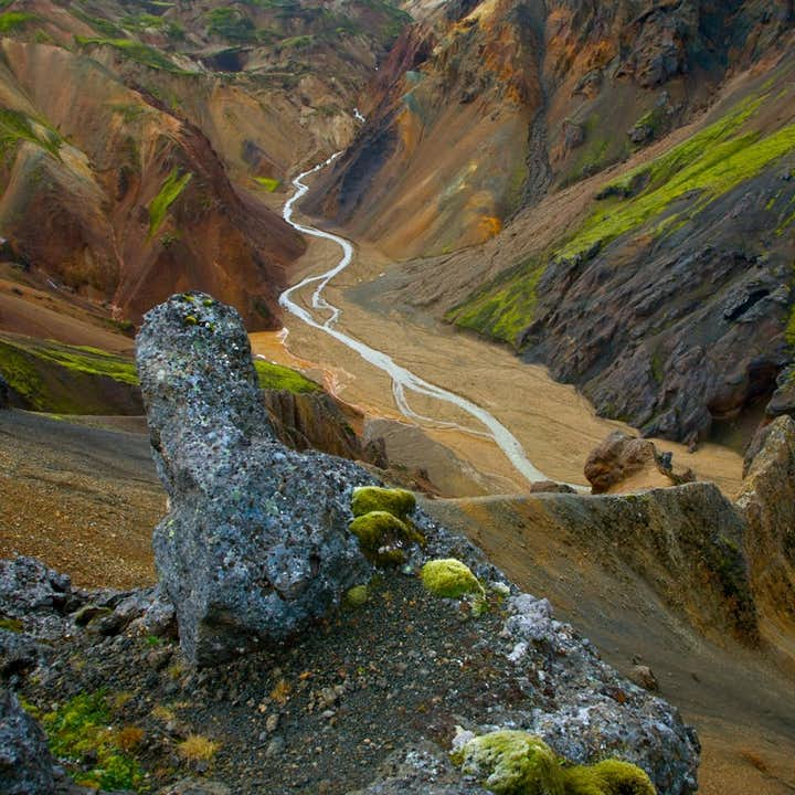 The barren Icelandic Highlands are filled with otherworldly colours