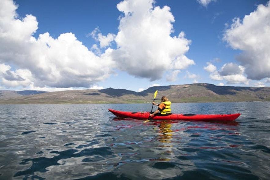 冰岛峡湾皮划艇