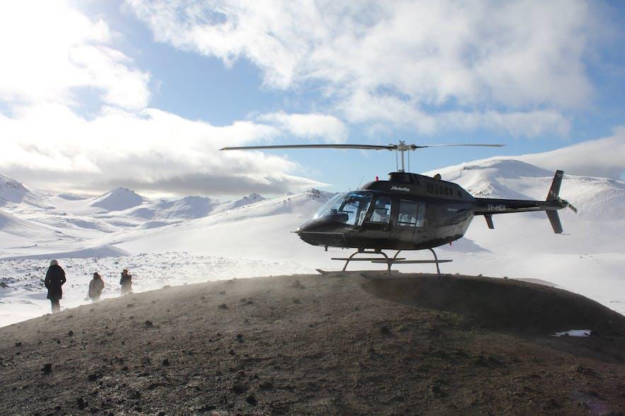 直升机冰岛旅行团冬季2月