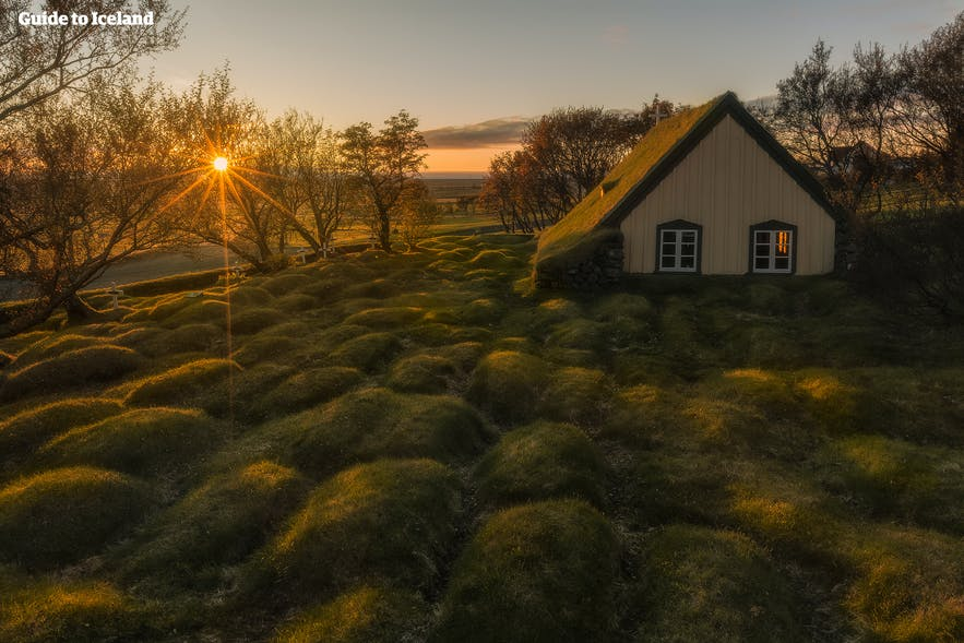'Hobbit' like Hofskirkja church in Iceland is a very cute wedding venue