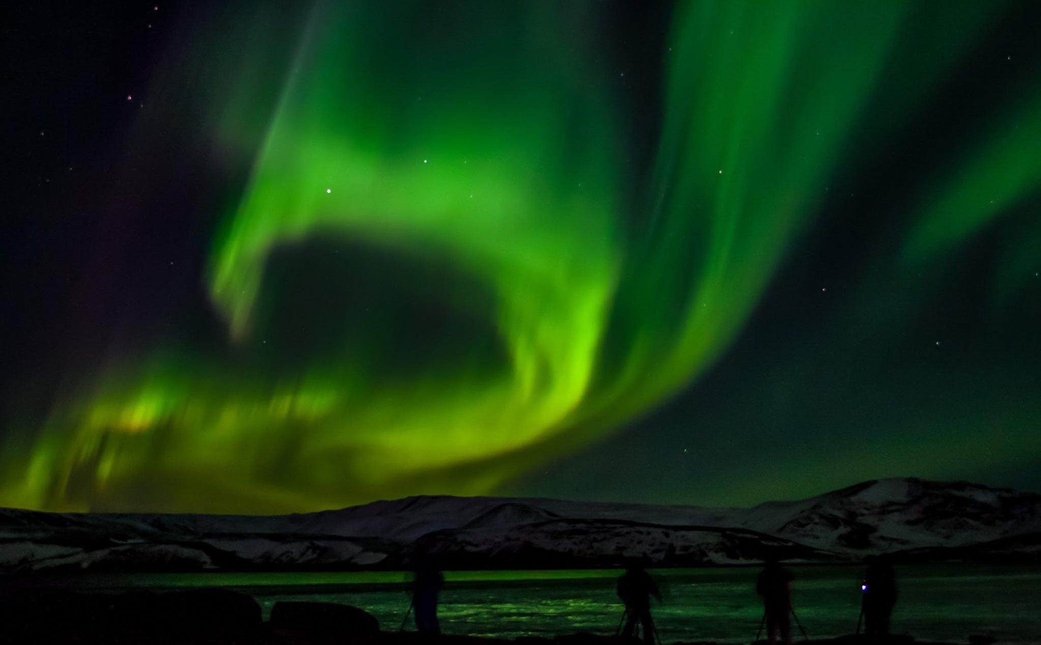 北极光小巴之旅带将您远离冰岛的城市和城镇的灯光,进入完美的黑暗环境追极光