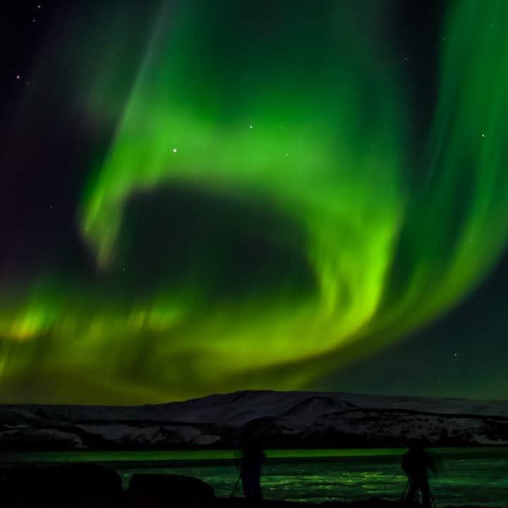 Tour en Minibús para ver la aurora boreal desde Reikiavik