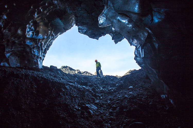 In the winter, you can take an ice cave tour in Vatnajökull National Park