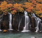 Hraunfossar is best described as a series of little waterfalls collected together, rather than one big feature.