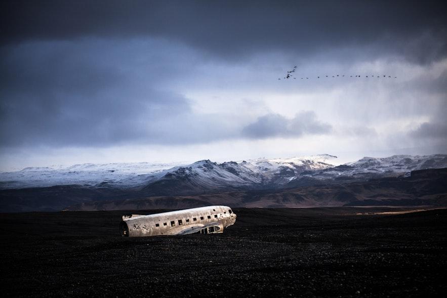 冰島四月飛機殘骸