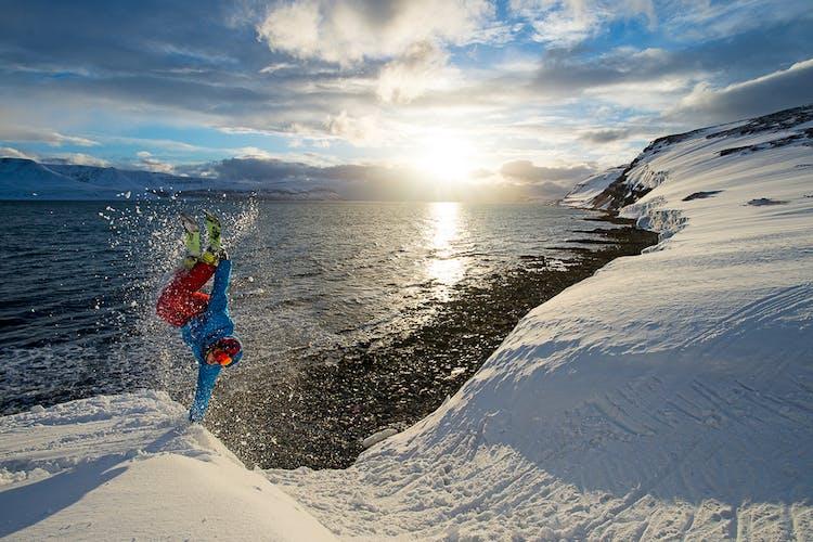 The ski slopes of the Westfjords beg for adventure.