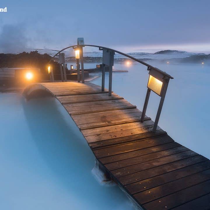 The geothermal waters of the Blue Lagoon will soothe any and all aching muscles