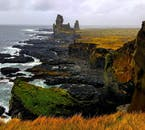 Snæfellsnes Peninsula, cloaked in beautiful orange, red and yellow colours of the autumn