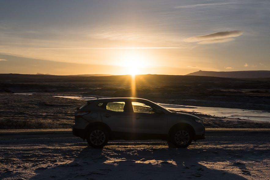 Auto fahren in Island