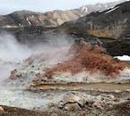 Landmannalaugar tiene una gran base geotérmica, de ahí la abundancia de piscinas naturales calientes.