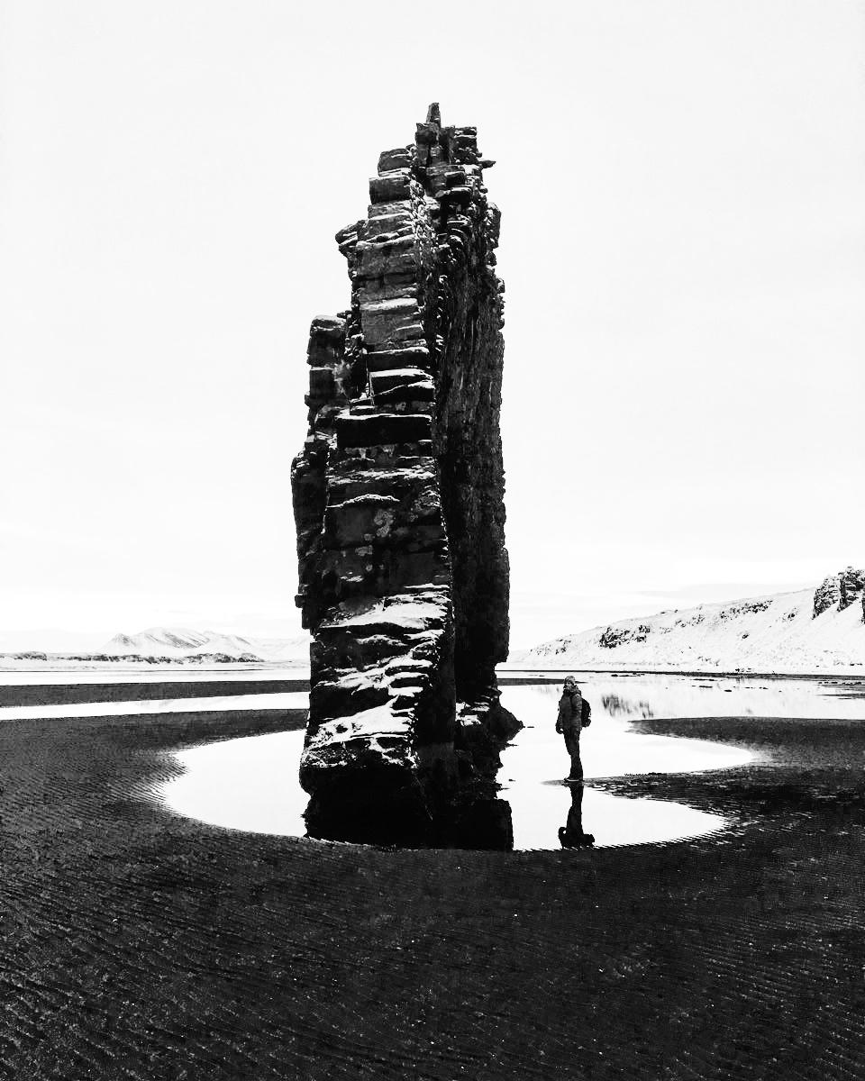 Visit the strange rock formation of Hvítserkur as you travel through northern Iceland.