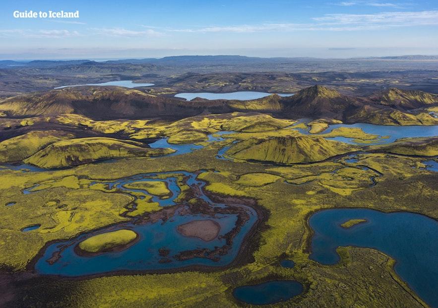 冰岛的内陆高地最适合航拍