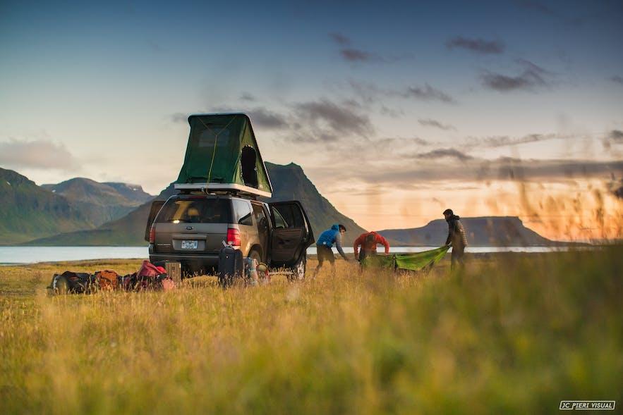 冰岛并不是所有地方都可以随便搭帐篷露营