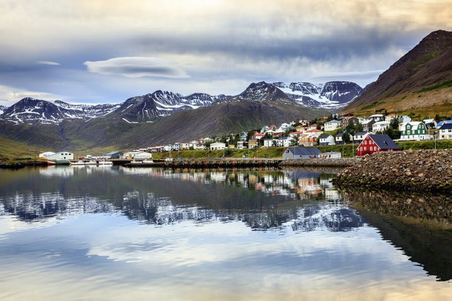 The town of Siglufjörður in the North of Iceland