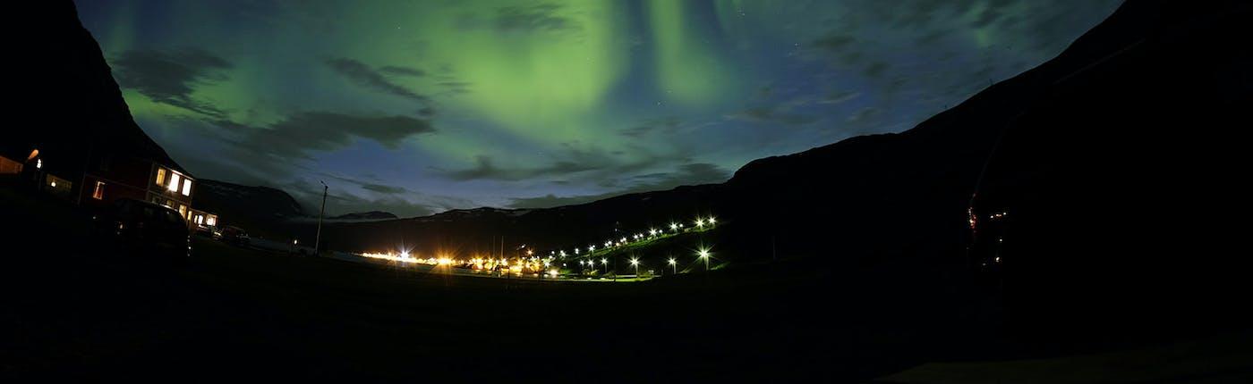 Nordlichter in Osten Islands