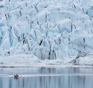 現地発 フィヤトルスアゥルロゥン氷河湖でのRIBボートツアー