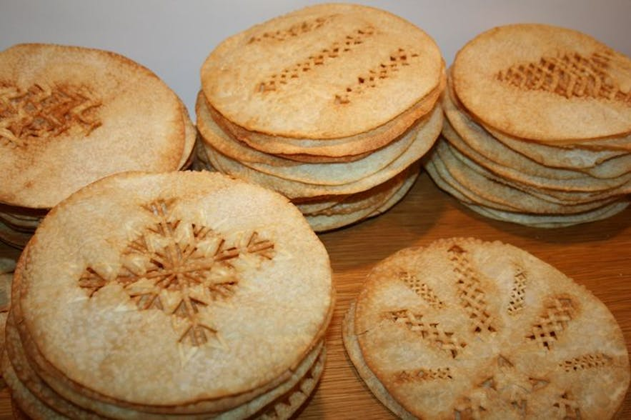 Icelandic laufabrauð is a popular thing to bake before Christmas