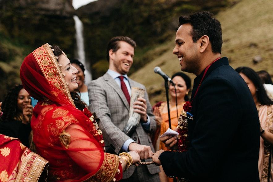 Międzykulturowe wesele w islandzkim otoczeniu.