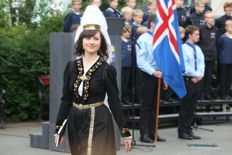 Iceland's national costume is a popular wedding dress