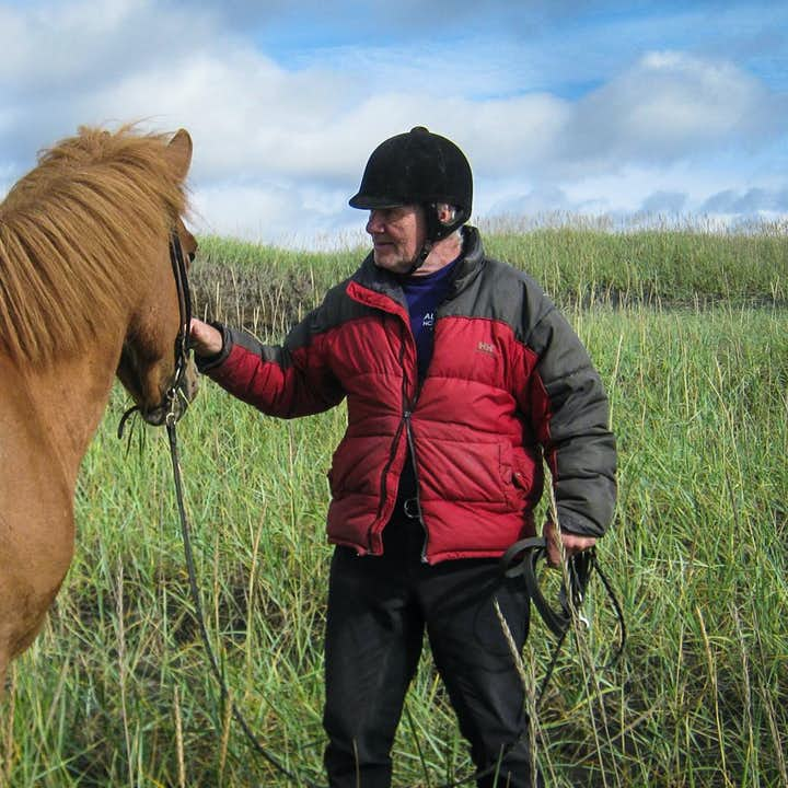 Magnús takes good care of his horses in South Iceland.