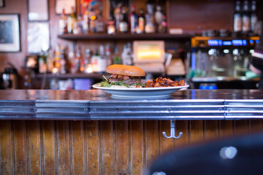 Hangover food at Prikið café, Reykjavík's oldest bar