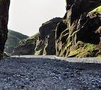 A rocky path runs through the fantastical world of Þórsmörk Nature Reserve.