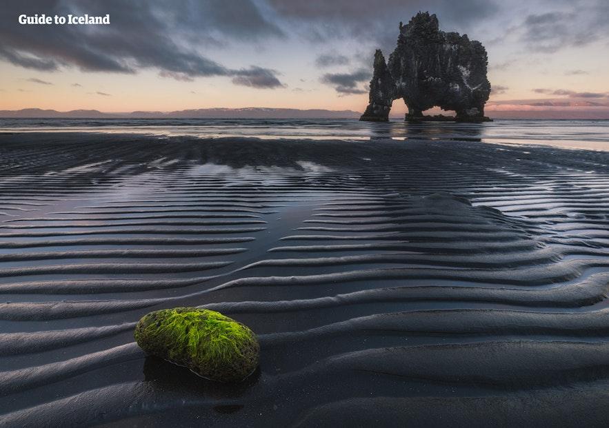 冰島北部大象岩石