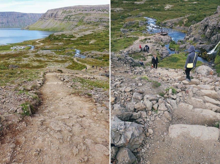 从停车场步行至景区,路段需要合适的登山鞋