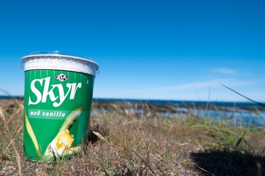 Skyr dans la nature islandaise