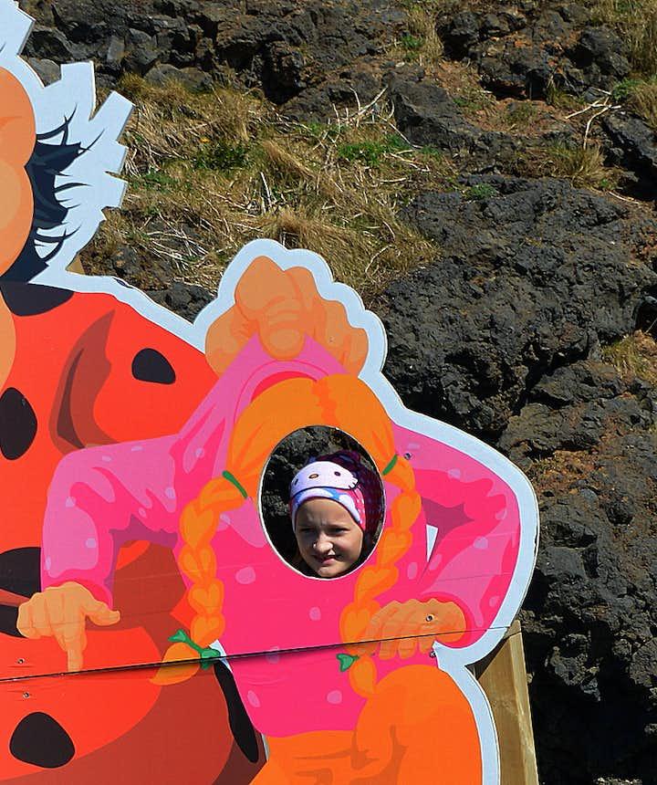 The gentle Giantess in the Cave in Keflavík in SW-Iceland - Skessan í hellinum