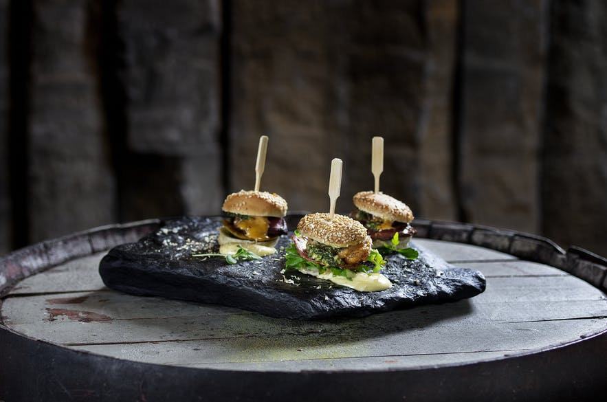 创意十足的海鹦肉汉堡