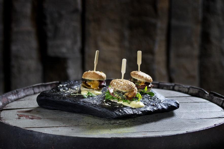 Burgers du restaurant Grillmarkaðurinn