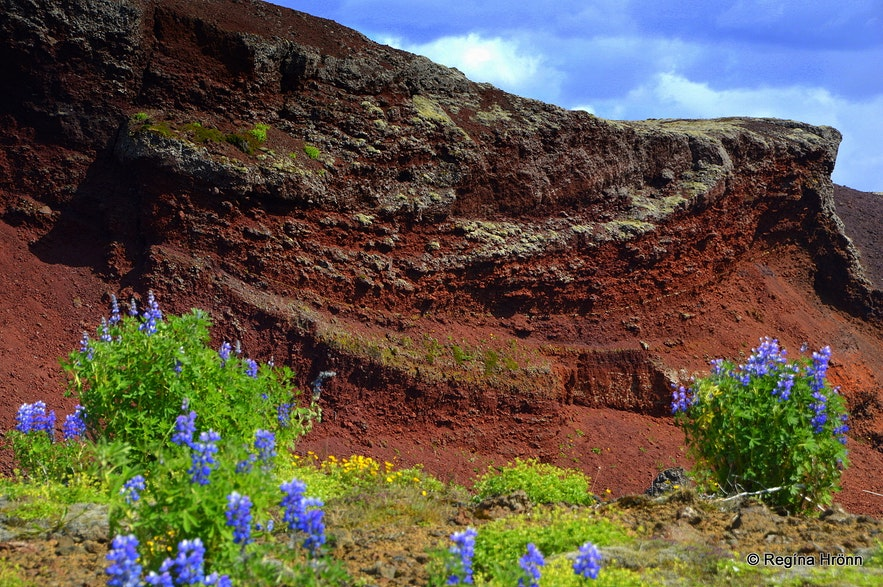 Rauðhólar pseudocraters SW-Iceland