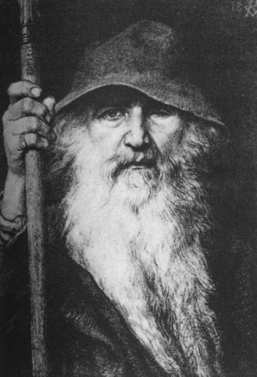 Odin, der Allvater, galt als Hauptgott des nordischen Pantheons.