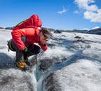 On a glacier hiking tour on Sólheimajökull, you can taste refreshing glacier water