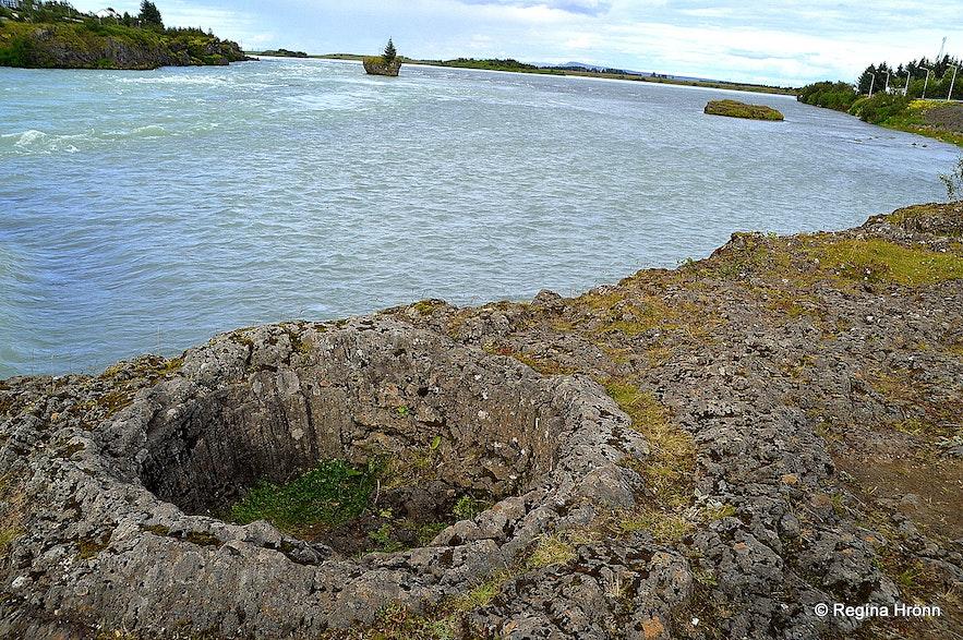 Lava pots by Ölfusá South-Iceland