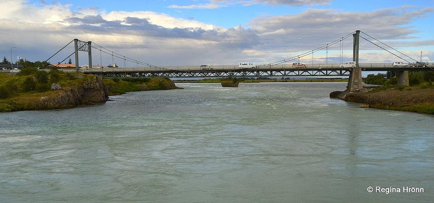 Ölfusá river and Ölfusárbrú bridge South-Iceland