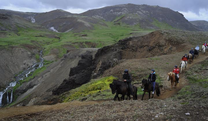 Expect green valleys, black rocks, red earth and glistening waterfall on the route.