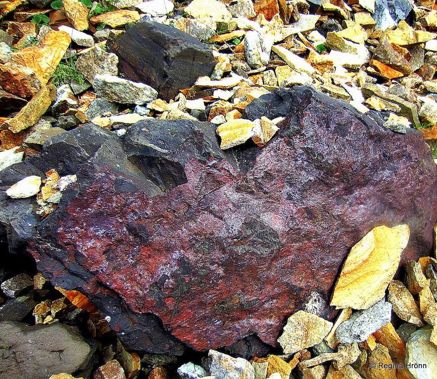 Colourful rocks in Innra-Hvannagil gorge East-Iceland