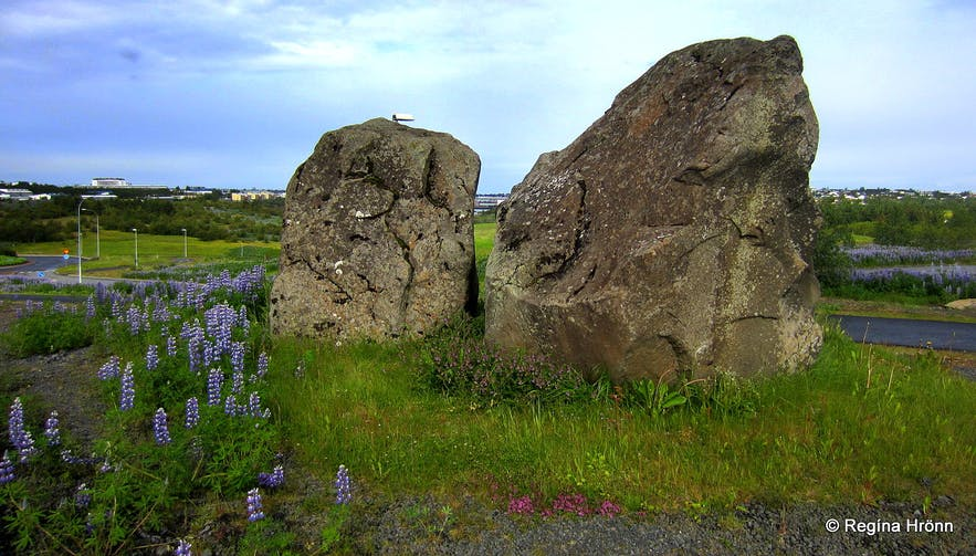 Grásteinn Rock in Reykjavík - is this Rock the Home of the Icelandic Elves?