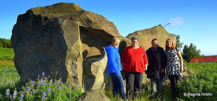 Grásteinn Rock in Reykjavík - is this Rock the Home of the Icelandic Elves?