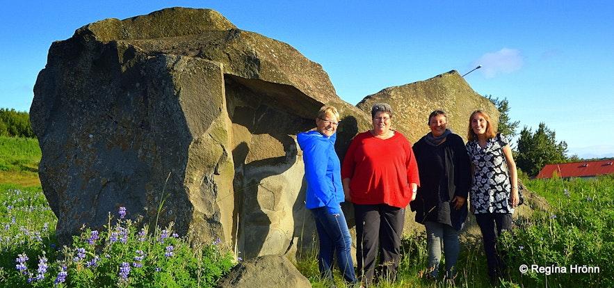 Regína at Grásteinn rock in Reykjavík