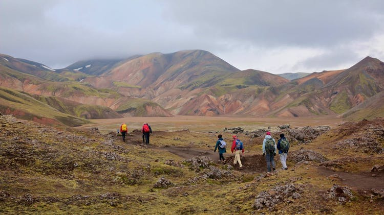Hiking the rusty backroads of the Fjallabak Nature Reserve, part of the central Icelandic Highlands.